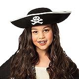 Boland 81909 - Sombrero infantil de pirata, tres puntas, talla única, diseño de pirata,...