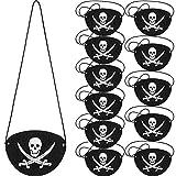 Parche de Ojo de Pirata de Fieltro Parche de Un Ojo de Capitán de Cráneo para Fiesta...