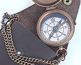 Brjula grabable NEOVIVID, brjula de bolsillo, brjula de latn con funda de transporte de...