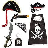 Ecloud Shop 2 pièces Capitán Pirata Cosplay Atrezzo 7.5 'Accesorio de Gancho del Traje...